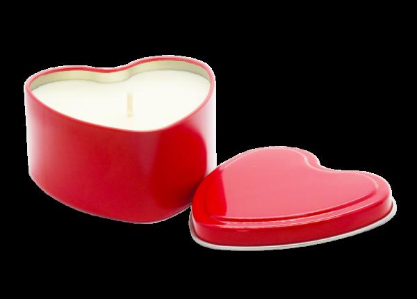 Heart Tin Candle